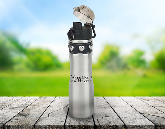 Water Bottle - Silver - Poster