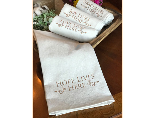 Tea Towels<br/>Hope Lives Here Collection<br/>2-Pack - Poster
