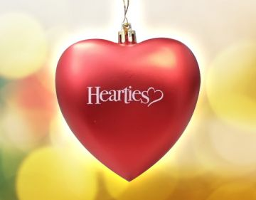 Official Hearties Ornament - RED