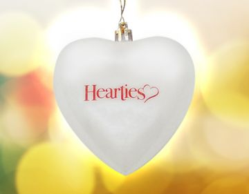 Official Hearties Ornament - WHITE