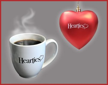 The Heartie Ornament Coffee Cup Combo
