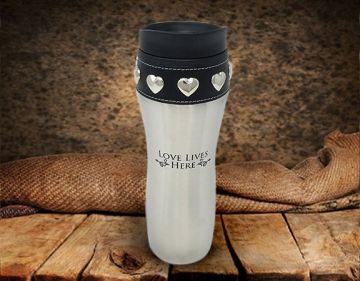 Love Lives Here Coffee Tumbler