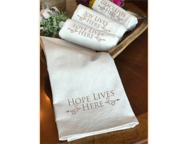 Tea Towels - Hope Lives Here Collection - Brown